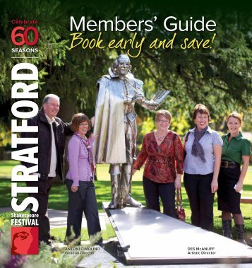2012 Members' Guide - Stratford Festival