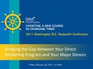 Bridging the Gap Between Your Direct Marketing Program and Your ...