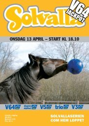 13 april - Solvalla