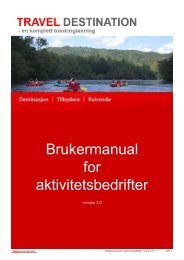 Brukermanual for aktivitetsbedrifter - visitBergen