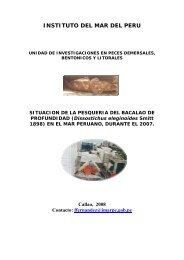 situación de la pesquería del bacalao de profundidad - Imarpe