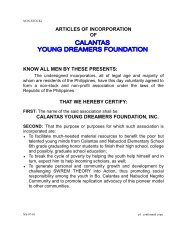 Articles of Incorporation CYDFI Philippines - Calantas Young ...