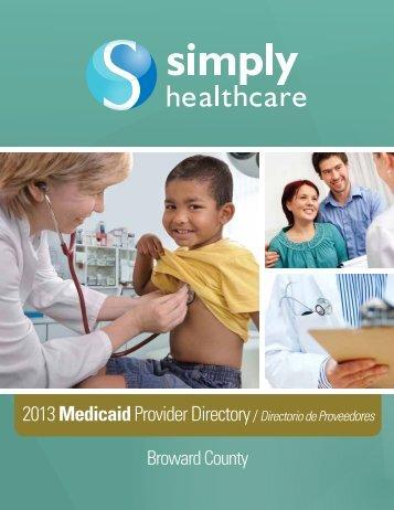 2013 MedicaidProvider Directory/ Directorio de Proveedores