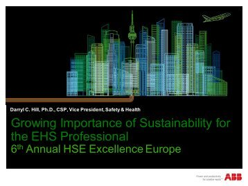Growing Importance of Sustainability for the EHS ... - Petroleumclub.ro