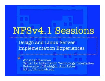 Design and Linux Server Implementation Experiences