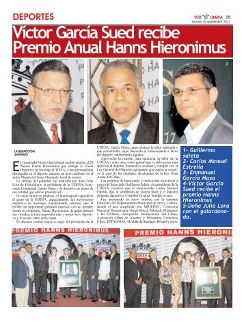Víctor García Sued recibe Premio Anual Hanns Hieronimus 1