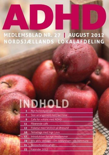 august 2012 nordsjællands lokalafdeling - ADHD: Foreningen