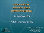 Future Land Use Allocation Model Presentation - Lake-Sumter ...