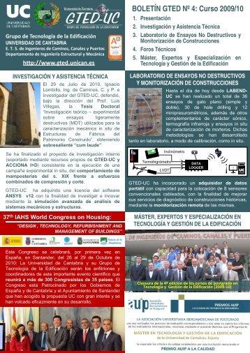 Boletín GTED Nº5 curso 2010-11 - Universidad de Cantabria