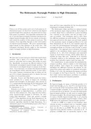 The Bichromatic Rectangle Problem in High Dimensions - Canadian ...