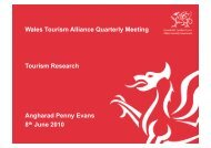 Wales Tourism Alliance Quarterly Meeting Tourism Research ...
