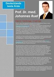 Prof. Dr. med. Johannes Ruef