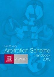 Arbitration Scheme - Law Society of Singapore