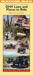 OHV Laws and Places to Ride - Arizona Game and Fish Department