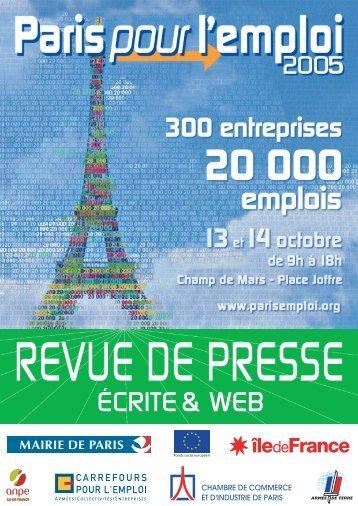revue de presse écrite 2005 - Carrefour Emploi