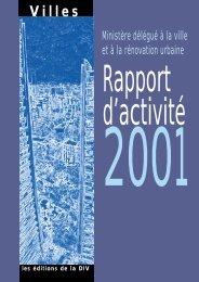 Rapport d'activité 2001 - Délégation interministérielle à la ville