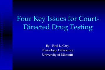 Understanding Abused Drugs Testing Results - Administrative Office ...