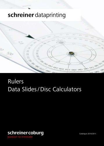 Rulers Data Slides / Disc Calculators ... - schreiner coburg