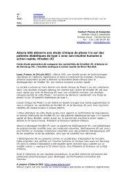 Adocia SAS démarre une étude clinique de phase IIa sur des ...