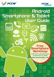 Android Smartphone & Tablet User Guide - PCCW Mobile