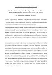 Democratizing Science & Re-Examining Power in ... - Action Research