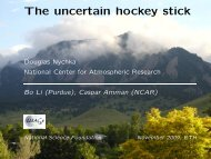 The uncertain hockey stick - IMAGe