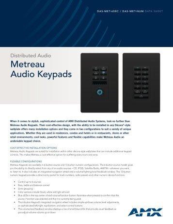 Metreau Audio Keypads - Clary Business Machines