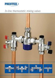 Prestex in-line thermostatic mixing valves - Building Products Index