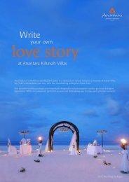 Download our unique wedding brochure - Anantara Kihavah