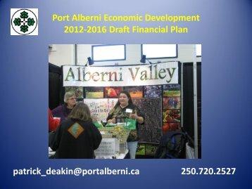 Port Alberni Economic Development 2011-2015 Draft Financial Plan