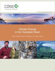 Climate Change in the Champlain Basin - The Nature Conservancy