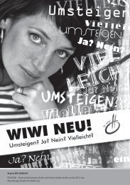 WIWI NEU! - Österreichische HochschülerInnenschaft Linz - JKU