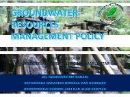 groundwater resources management policy - Akademi Sains Malaysia