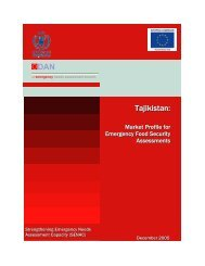 Tajikistan - Market profile for Emergency Food Security Assessments ...