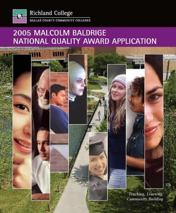Table of Contents - Richland College - Dallas County Community ...