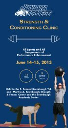 View/Print JC Strength & Conditioning Clinic ... - Juniata College