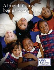 Today and Tomorrow Educational Foundation 2011 Annual Report