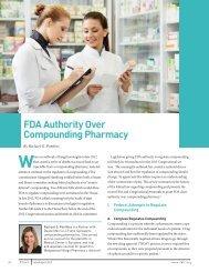 FDA Authority Over Compounding Pharmacy - Duane Morris LLP