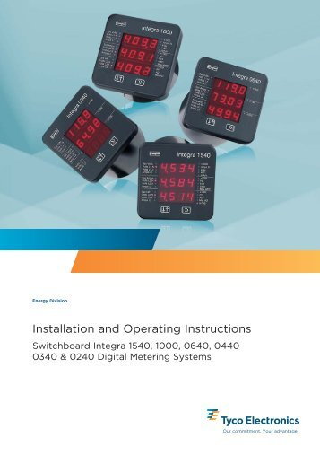 Installation and Operating Instructions - Crompton Instruments