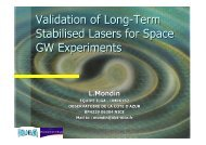 Validation of Long-Term Stabilised Lasers for Space GW Experiments