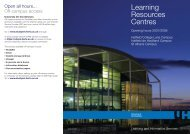 Learning Resources Centres - StudyNet