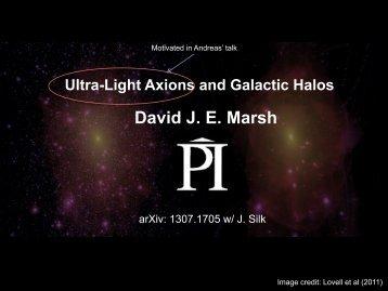 Ultra-light axions and galactic halos