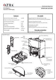 Features Air supply Flue pipe convection Technical sheet 1/2 ...