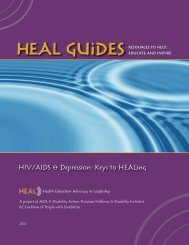 HIV/AIDS & Depression: Keys to HEALing - bccpd
