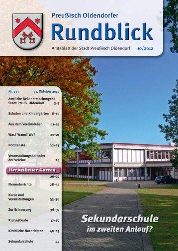 Rundblick 10-2012 - Stadt Preußisch Oldendorf