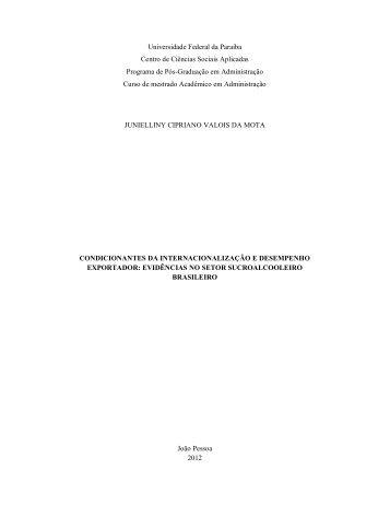 Ler dissertacao - Centro de Ciências Sociais Aplicadas