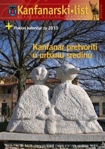 Kanfanarski list - Broj 29, Prosinac 2009.