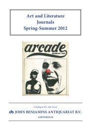 Art and Literature Journals Spring-Summer 2012 - John Benjamins
