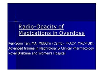 Radio-Opacity of Medications in Overdose - Tour Hosts Pty Limited