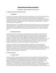 Behavioral Neuroscience Minor: Concept Paper - Richard Stockton ...
